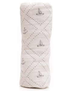 Little Unicorn Cotton Muslin Swaddle - Anchors Aweigh