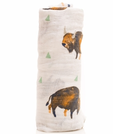 Little Unicorn Cotton Muslin Swaddle - Bison