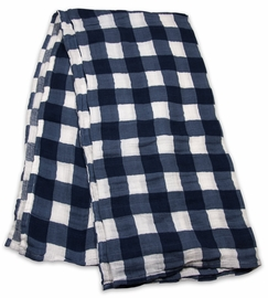 Little Unicorn Cotton Muslin Swaddle - Jack Plaid