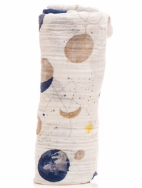 Little Unicorn Cotton Muslin Swaddle - Planetary