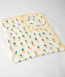 Little Unicorn Deluxe Muslin Big Kid Quilt - Pineapple