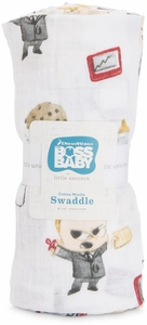 Little Unicorn + The Boss Baby Cotton Cotton Muslin Swaddle - Cookies are for Closers