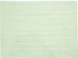 "Lorena Canals Braids Rug - Soft Mint (4' x 5' 3"")"