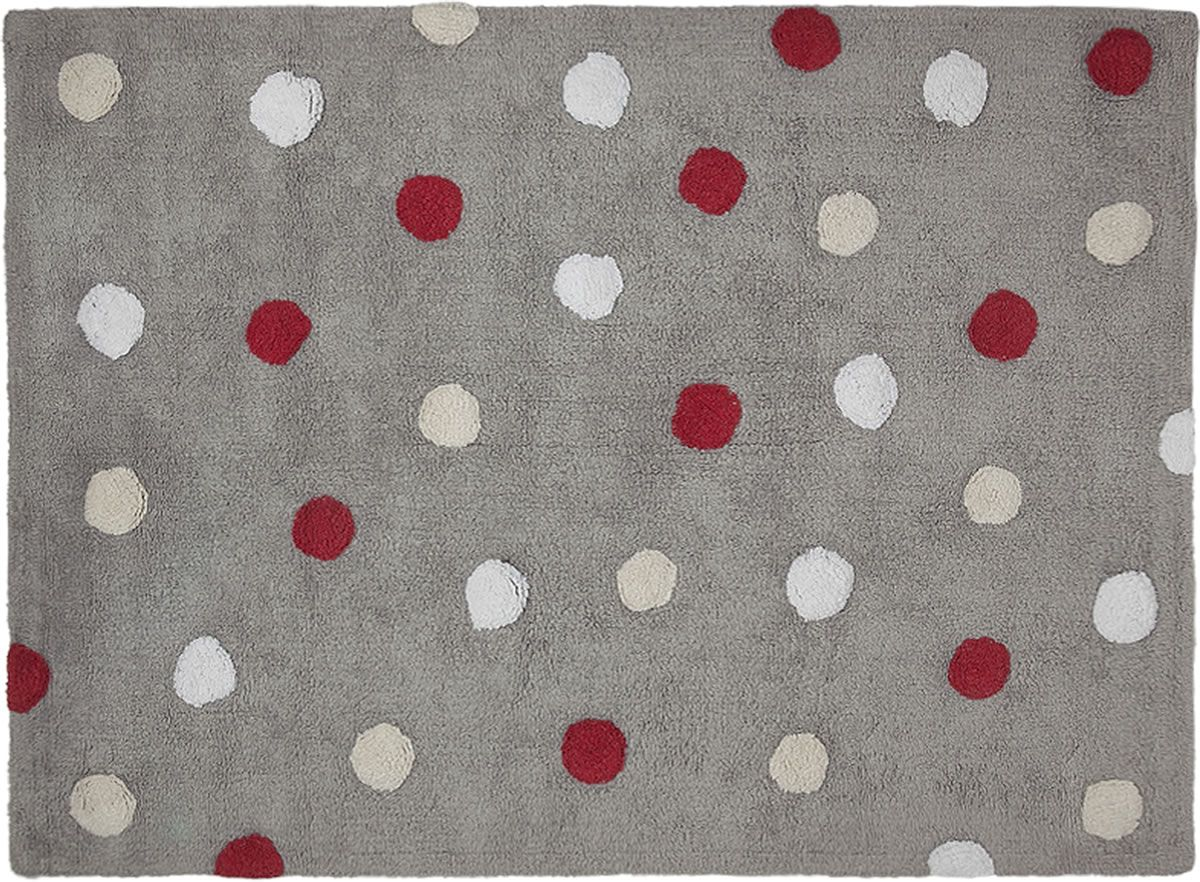 Lorena Canals Tricolor Polka Dots Rug Red 4 X 5 3 Quot
