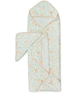 Loulou Lollipop Hooded Towel Set - Bunny Meadow