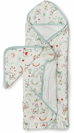 Loulou Lollipop Hooded Towel Set - Llama