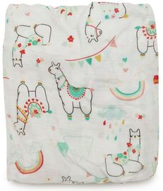 Loulou Lollipop Luxe Fitted Crib Sheet - Llama