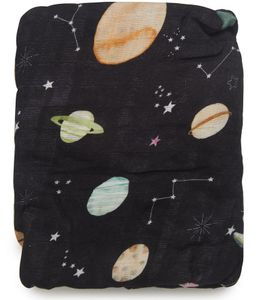 Loulou Lollipop Luxe Fitted Crib Sheet - Planets