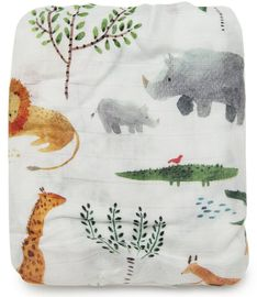 Loulou Lollipop Luxe Fitted Crib Sheet - Safari Jungle