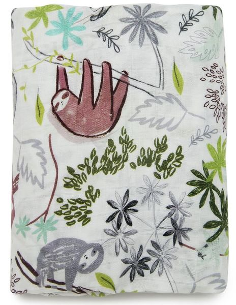 Loulou Lollipop Luxe Fitted Crib Sheet - Sloth
