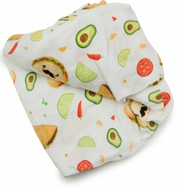 Loulou Lollipop Luxe Fitted Crib Sheet - Taco