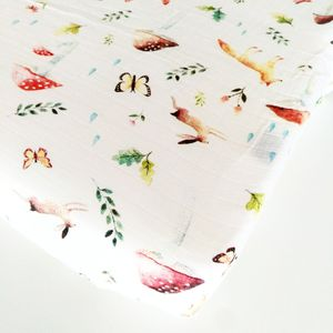 Loulou Lollipop Luxe Fitted Crib Sheet - Woodland Gnome