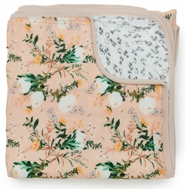 Loulou Lollipop Luxe Muslin Quilt - Blushing Protea
