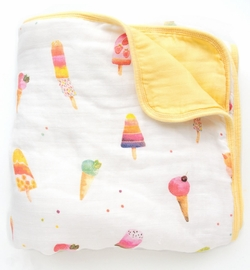 Loulou Lollipop Luxe Muslin Quilt - Ice Cream