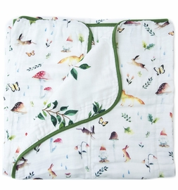 Loulou Lollipop Luxe Muslin Quilt - Woodland Gnome
