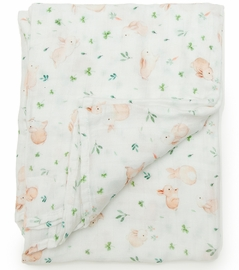 Loulou Lollipop Luxe Muslin Swaddle - Bunny Meadow
