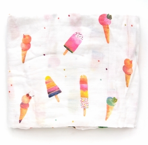 Loulou Lollipop Luxe Muslin Swaddle - Ice Cream