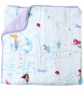Loulou Lollipop Luxe Muslin Swaddle - Mermaid