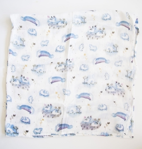 Loulou Lollipop Luxe Muslin Swaddle - Unicorn