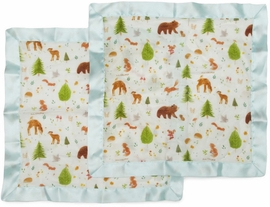 Loulou Lollipop Security Blanket 2-Pack - Forest Friends