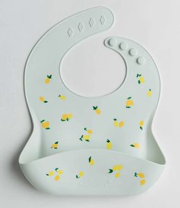 Loulou Lollipop Silicone Bib - Lemon
