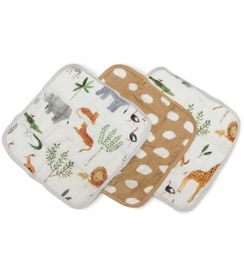 Loulou Lollipop Washcloth Set - Safari