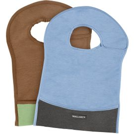 Maclaren Eco Bib Set - Blue/Graphite & Walnut/Marsh Green
