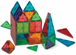 Magna-Tiles Clear Colors, 100 Piece Set