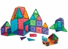 Magna-Tiles Clear Colors, 48 Piece DX Set