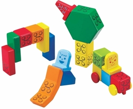 Magna-Tiles People Blocks, Solid Colors - 31 Piece Set