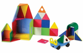 Magna-Tiles Solid Colors, 48 Piece DX Set