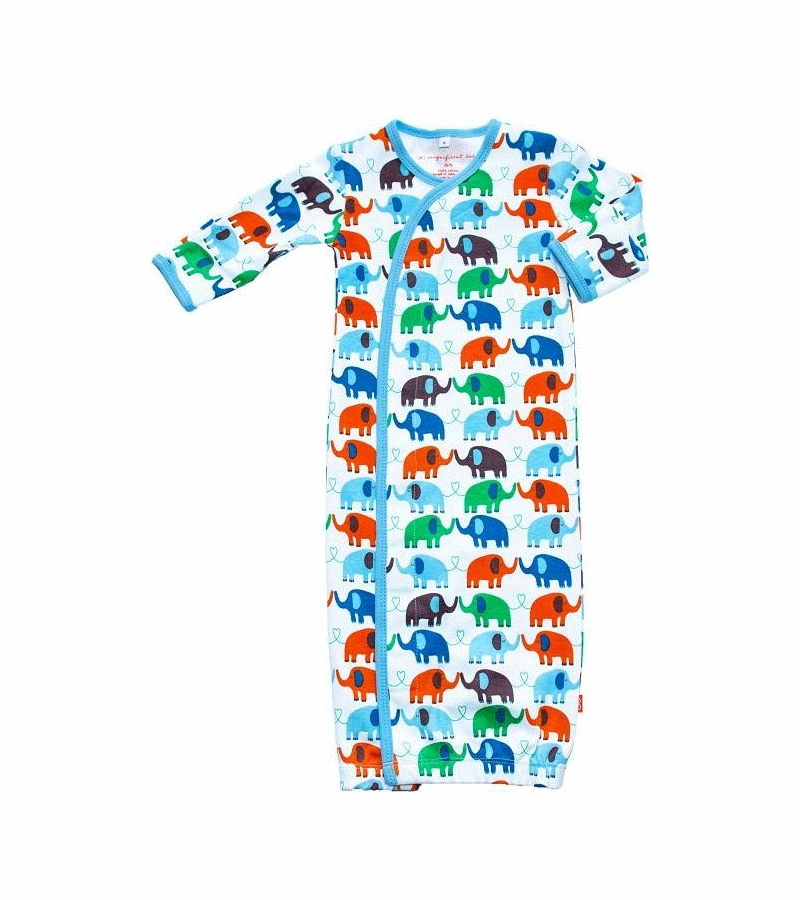 5776963f5 Magnificent Baby Boy's Elephant On Parade Gown - Newborn to 3 ...