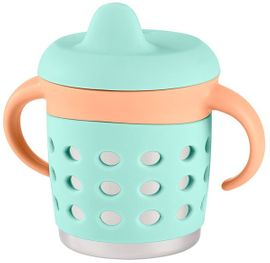 Make My Day Adjustable Sippy Cup - Mint/Orange