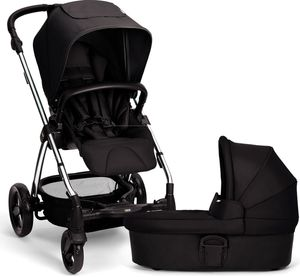 Mamas & Papas Sola 2 Chrome Stroller & Carrycot - Black