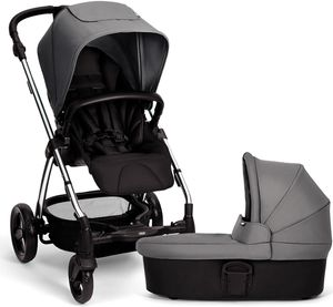 Mamas & Papas Sola 2 Chrome Stroller & Carrycot - Grey