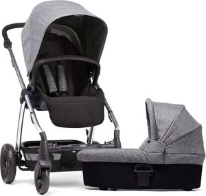 Mamas & Papas Sola 2 Chrome Stroller & Carrycot - Grey Marl