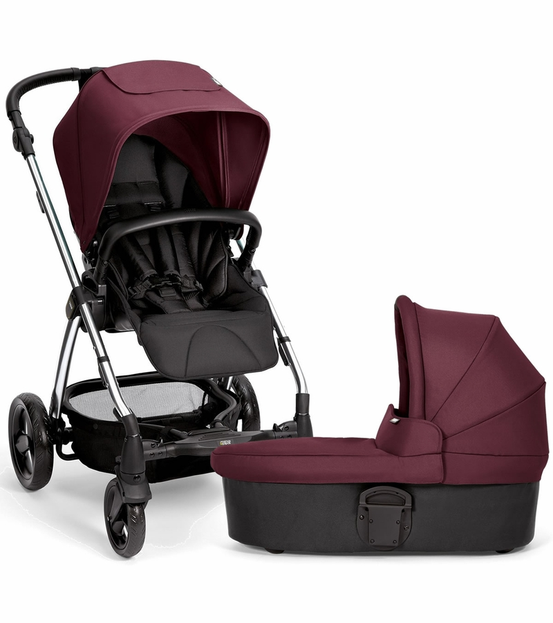 Mamas & Papas Sola 2 Chrome Stroller & Carrycot - Mulberry