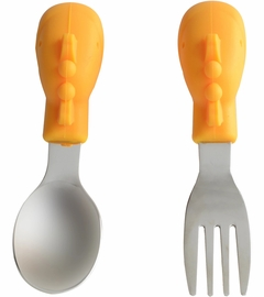 Marcus & Marcus Palm Grasp Spoon & Fork Set Lola the Giraffe