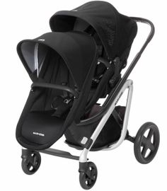 Maxi-Cosi Lila Double Stroller - Frequency Black/Nomad Black