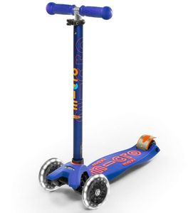 Micro Kickboard Maxi Deluxe LED Scooter - Blue