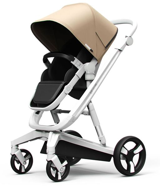 Milkbe Lullaby Auto Stopping Stroller - Gold