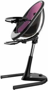 Mima Moon 2G High Chair - Black / Eggplant