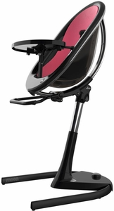 Mima Moon 2G High Chair - Black / Fuchsia