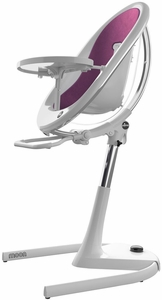 Mima Moon 2G High Chair - White/Eggplant