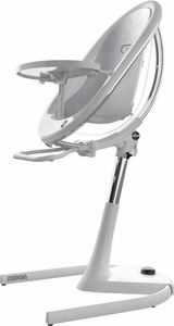 Mima Moon 2G High Chair - White / Silver