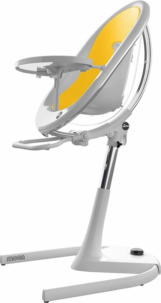 Mima Moon 2G High Chair - White / Yellow