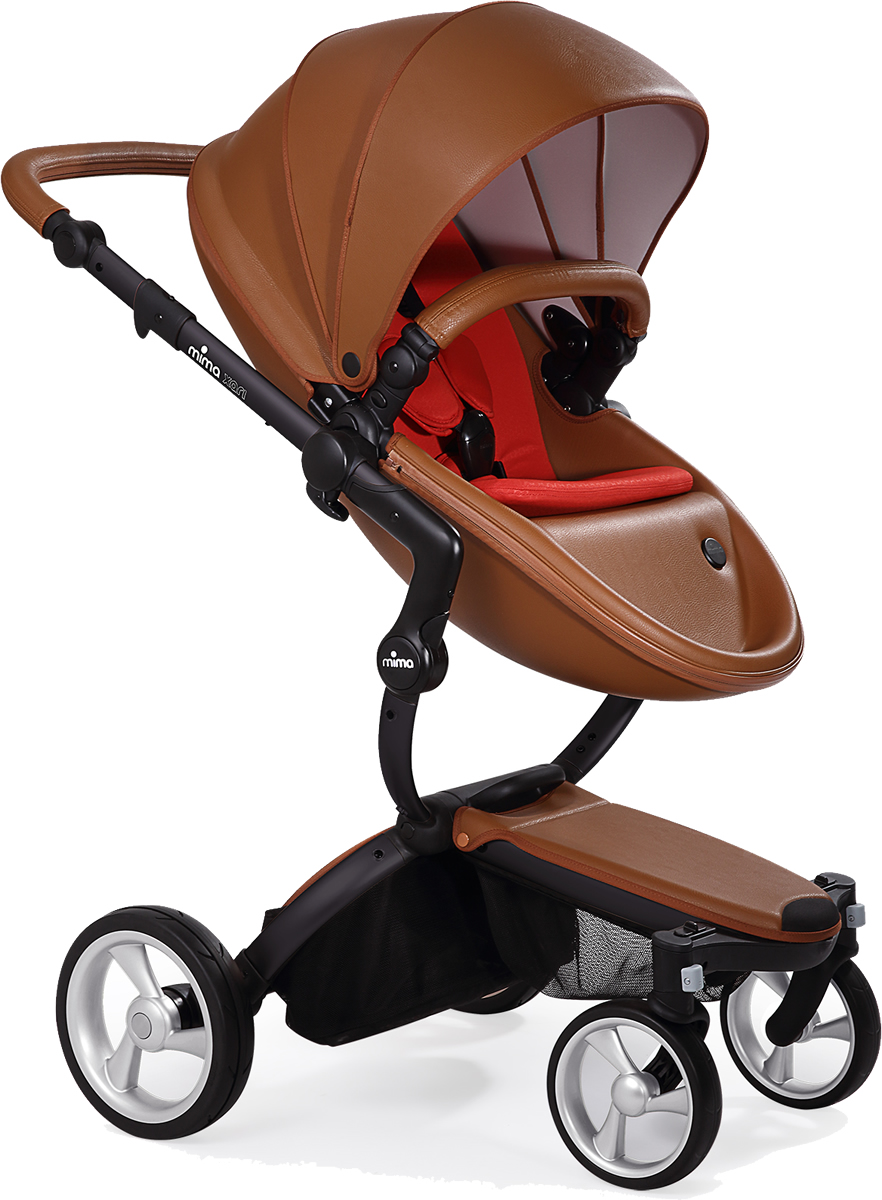 Mima Xari Complete Stroller, Black - Camel / Red