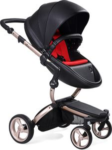Mima 2019 Xari Complete Stroller, Rose Gold - Black / Ruby Red