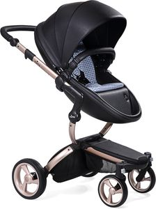 Mima 2019 Xari Complete Stroller, Rose Gold - Black / Retro Blue