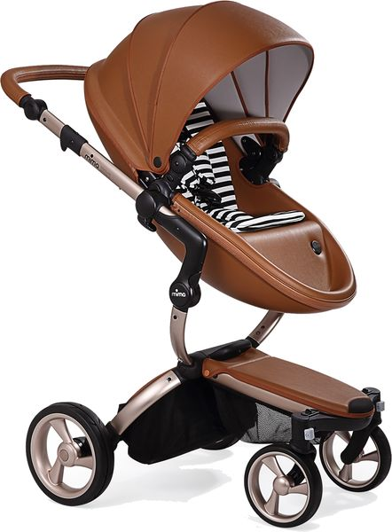 Mima G4 Xari Complete Stroller, Rose Gold - Camel / Black & White (Albee Exclusive)